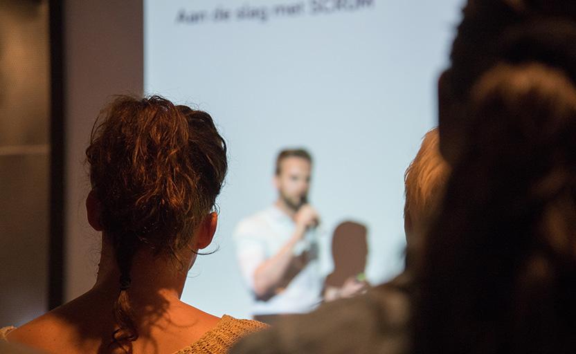 teacher presenting