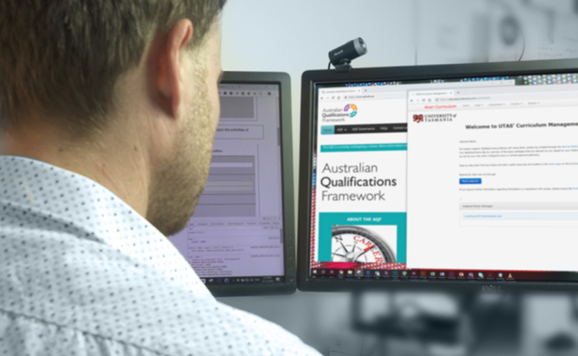 person viewing AQF website